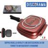 DOPPIA PADELLA ROYALTY LINE BISTECCHIERA 34 CM FORNETTO ANTIADERENTE IN MARMO