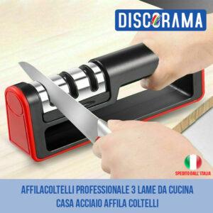 AFFILACOLTELLI PROFESSIONALE 3 LAME DA CUCINA CASA ACCIAIO AFFILA COLTELLI